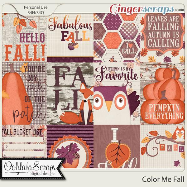 Color Me Fall Pocket Scrap Cards