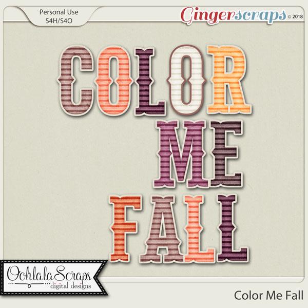 Color Me Fall Alphabets