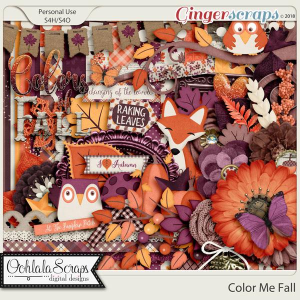 Color Me Fall Digital Scrapbook Kit