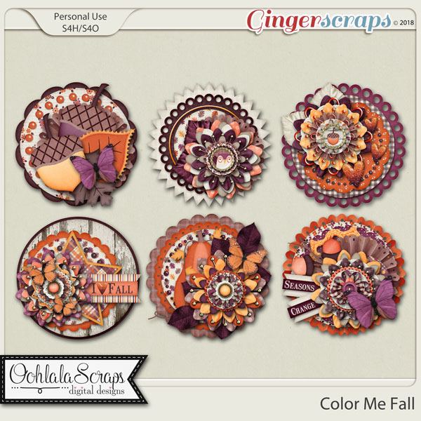 Color Me Fall Cluster Seals