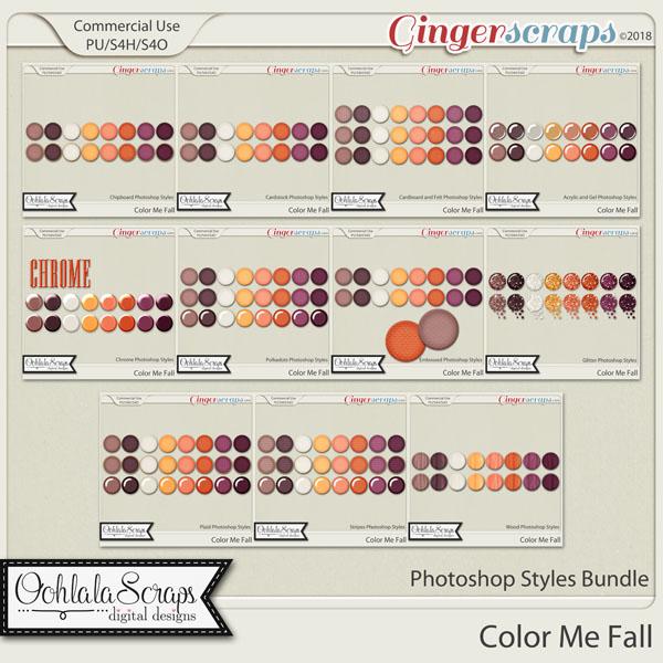 Color Me Fall CU Photoshop Styles Bundle