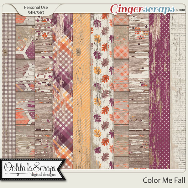 Color Me Fall Wood Papers