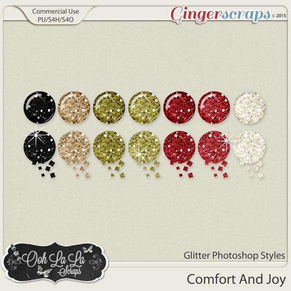Comfort And Joy Glitter CU Photoshop Styles