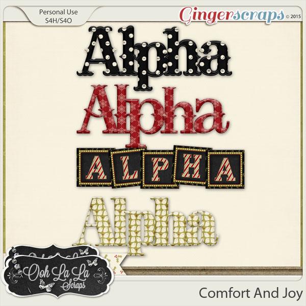 Comfort And Joy Alphabets