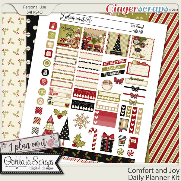 Comfort and Joy Planner Stickers Daily Kit