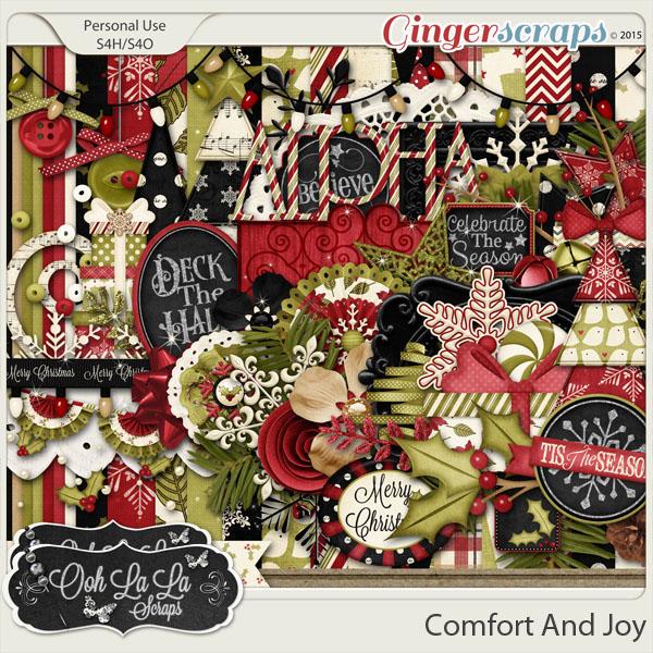 Comfort And Joy Digital Scrapbooking Kit