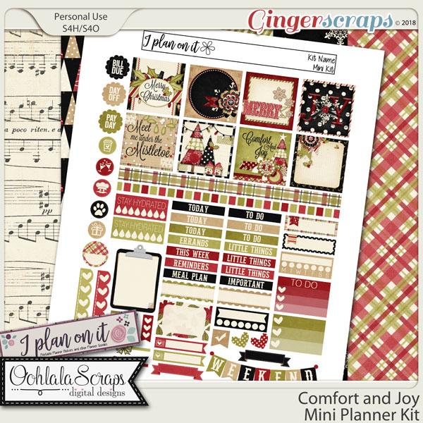 Comfort and Joy Planner Stickers Mini Kit