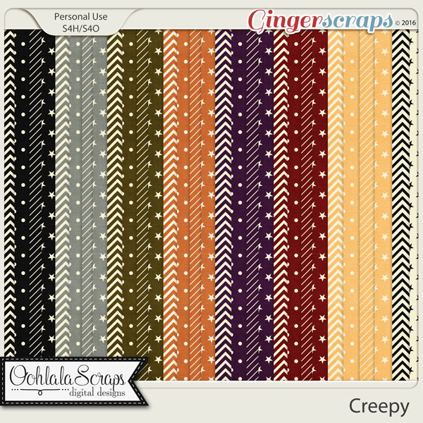 Creepy Pattern Papers