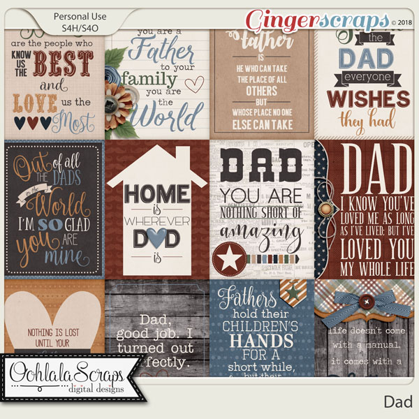 Dad Pocket Scrap Cards