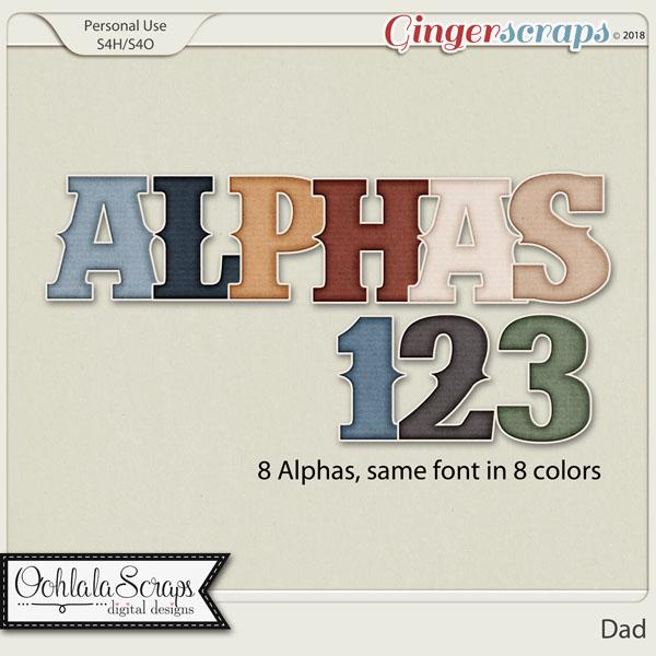 Dad Alphabets