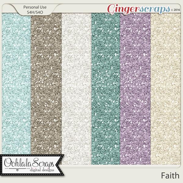 Faith Glitter Papers