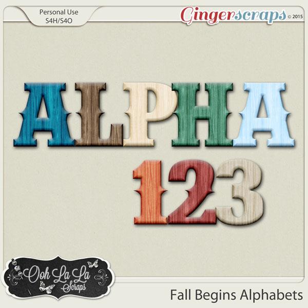 Fall Begins Alphabets