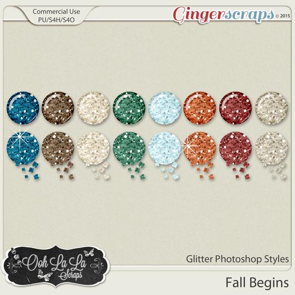 Fall Begins CU Glitter Photoshop Styles