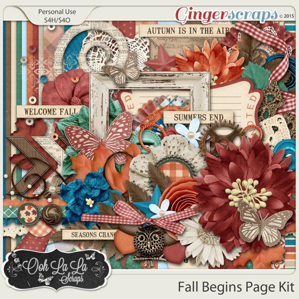 Fall Begins Digital Scrapbooking Kit