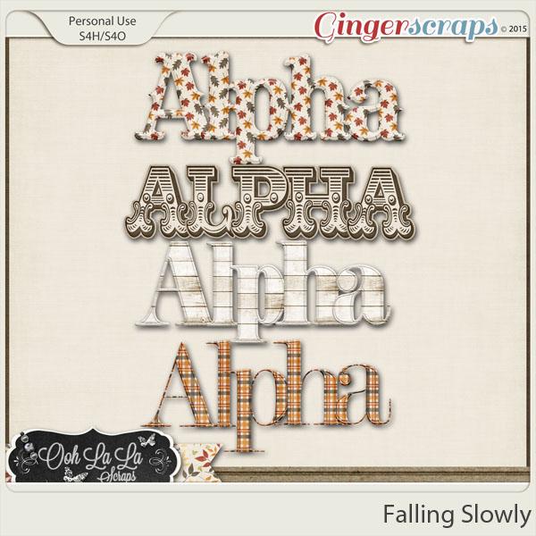 Falling Slowly Alphabets