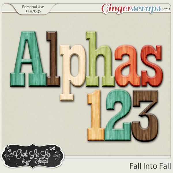 Fall Into Fall Alphabets