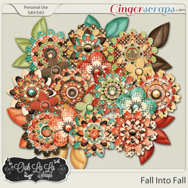 Fall Into Fall Layered Flowers
