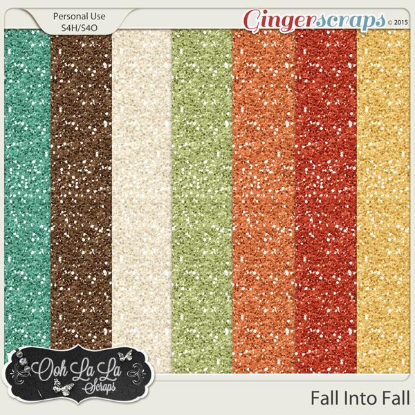 Fall Into Fall Glitter Sheets