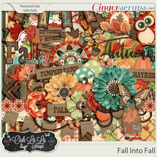 Fall Into Fall Digital Scrapbooking Kit