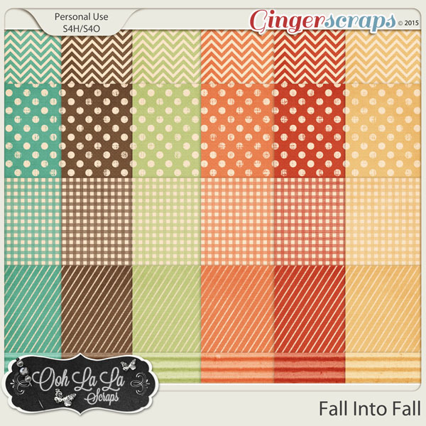 Fall Into Fall Pattern Papers