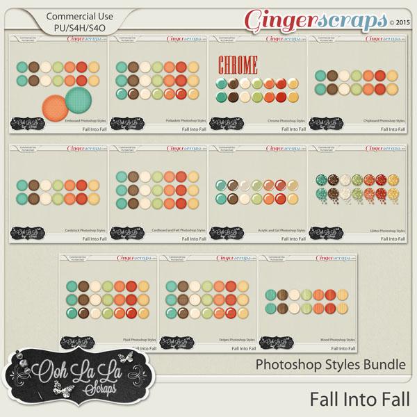 Fall Into Fall CU Photoshop Styles Bundle