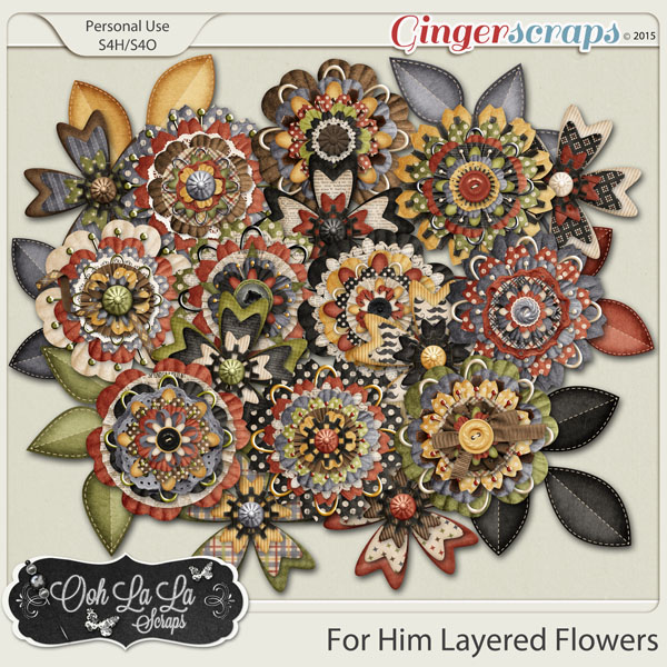 For Him Layered Flowers
