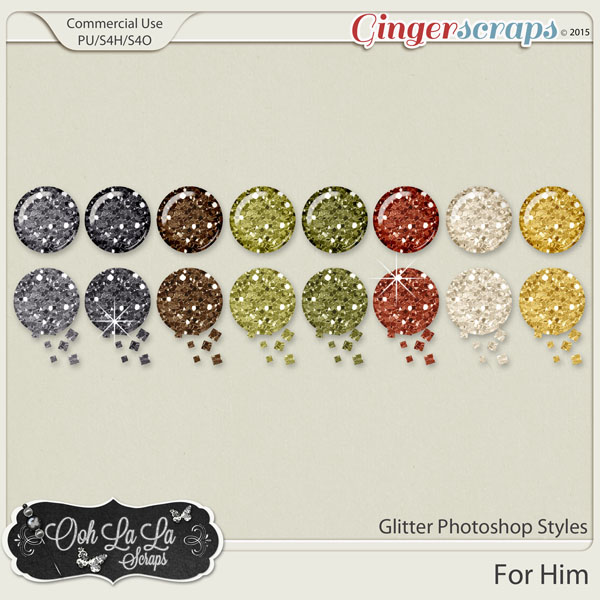 For Him Glitter Photoshop Styles