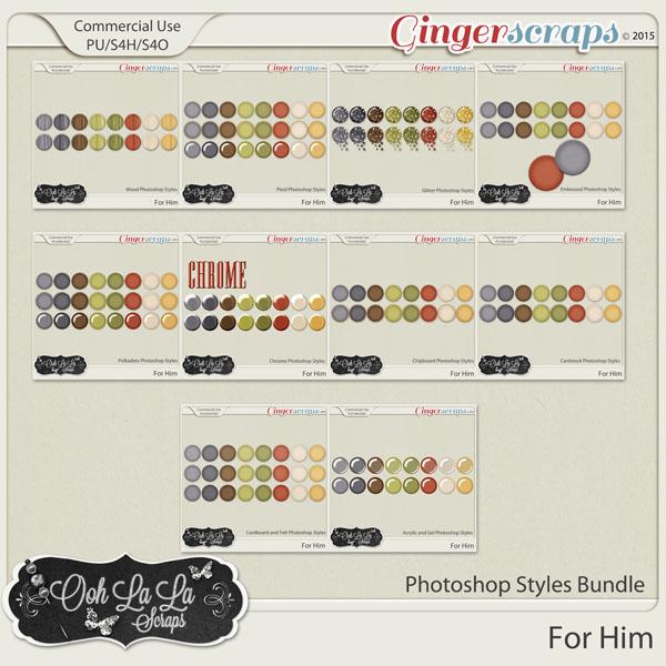 For Him CU Photoshop Styles Bundle