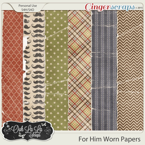 For Him Worn and Torn Papers