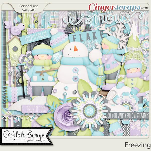 Freezing Add On Digital Scrapbooking Kit