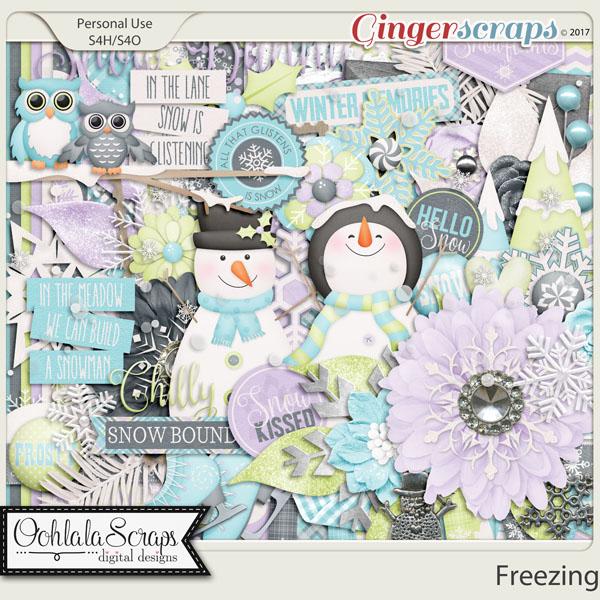 Freezing Digital Scrapbooking Kit