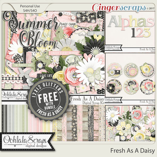 Fresh As A Daisy Digital Scrapbook Bundle