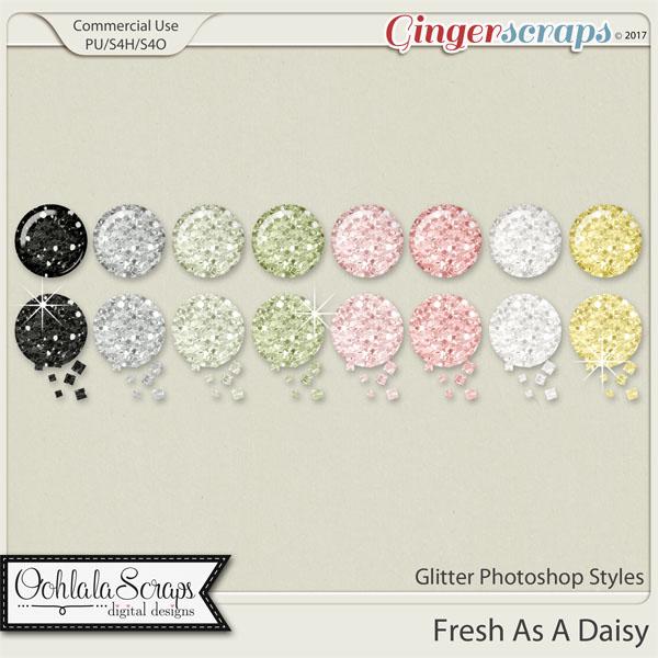 Fresh As A Daisy CU Glitter Photoshop Styles