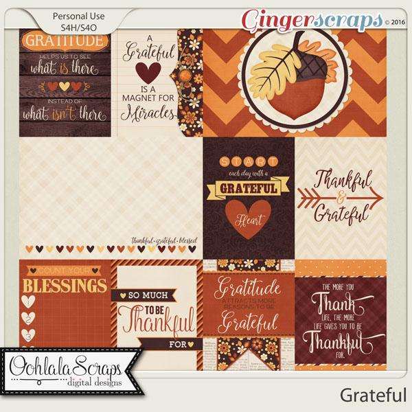 Grateful Journal and Pocket Scrap Cards