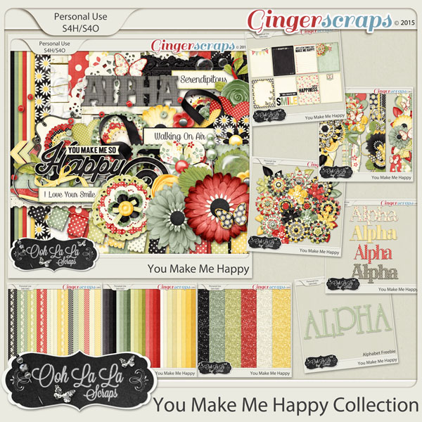 You Make Me Happy Digital Scrapbook Bundle