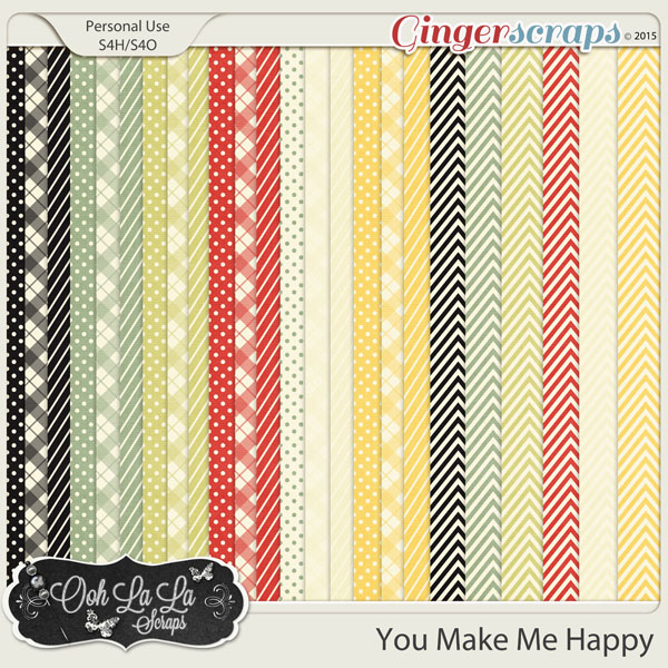 You Make Me Happy Pattern Papers
