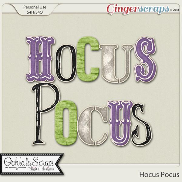 Hocus Pocus Alphabets