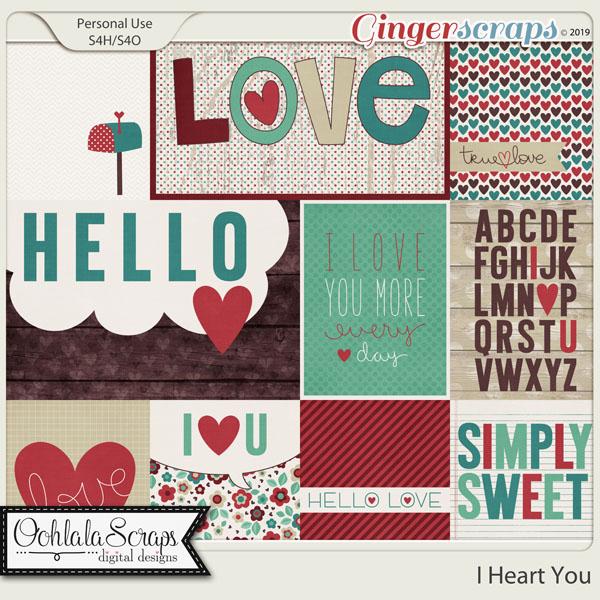 I Heart You Pocket Scrap Cards