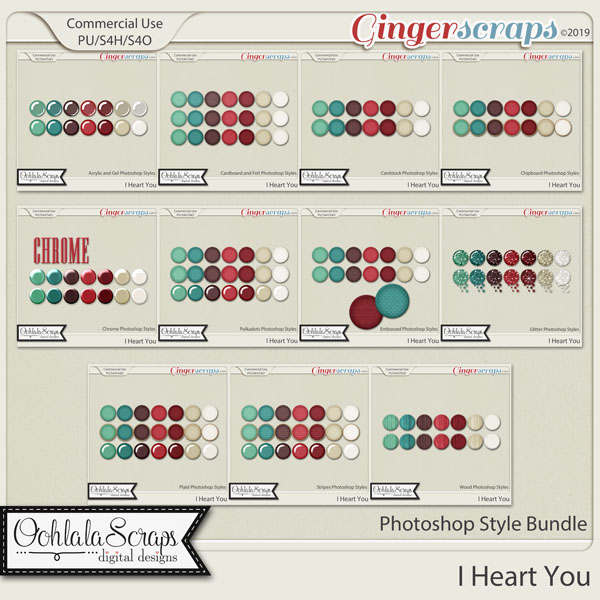 I Heart You CU Photoshop Styles Bundle