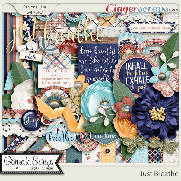 Just Breathe Digital Scrapbook Kit