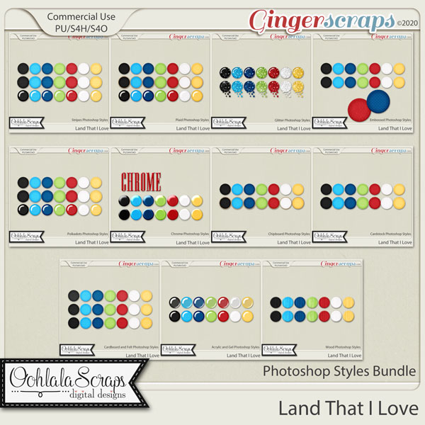 Land That I Love CU Photoshop Styles Bundle