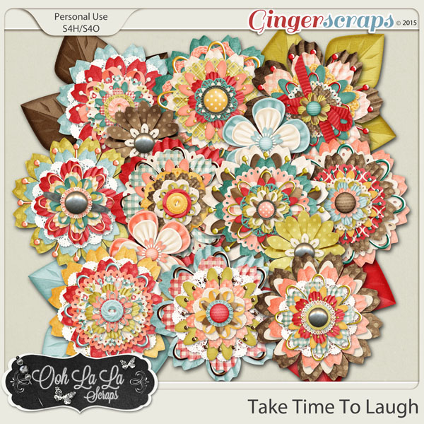 Take Time To Laugh Layered Flowers