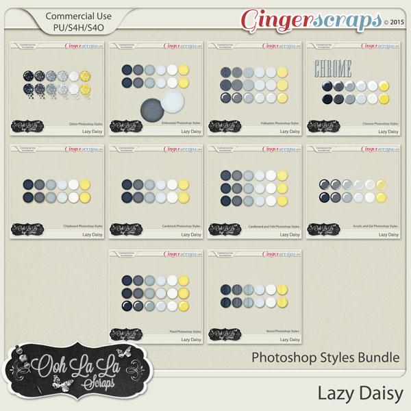 Lazy Daisy CU Photoshop Styles Bundle