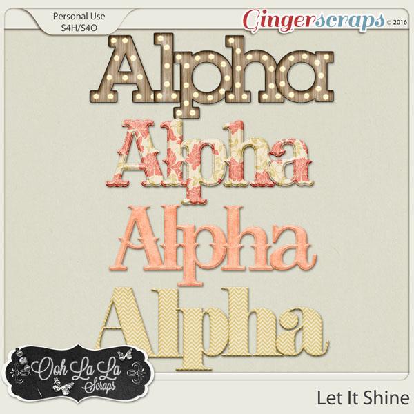 Let It Shine Alphabets