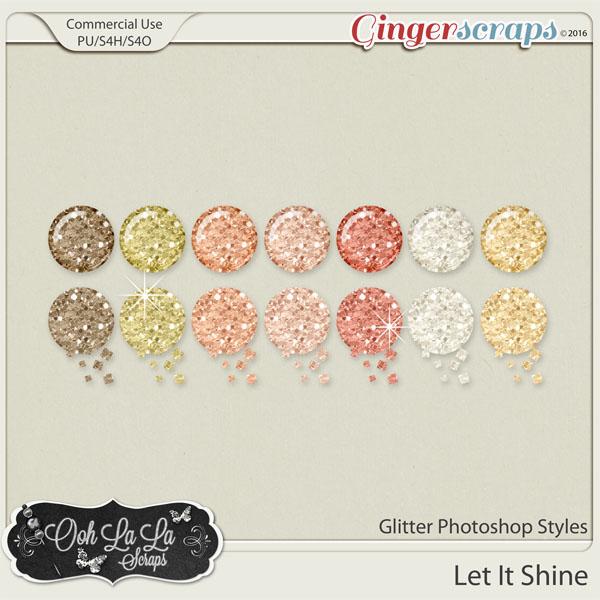 Let It Shine Glitter Photoshop Styles