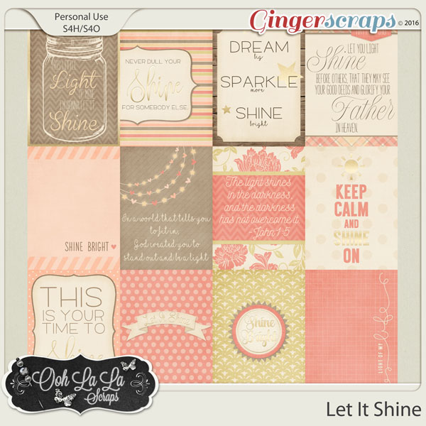 Let It Shine Journal and Pocket Scrapbook Cards