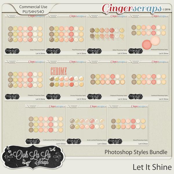 Let It Shine CU Photoshop Styles Bundle