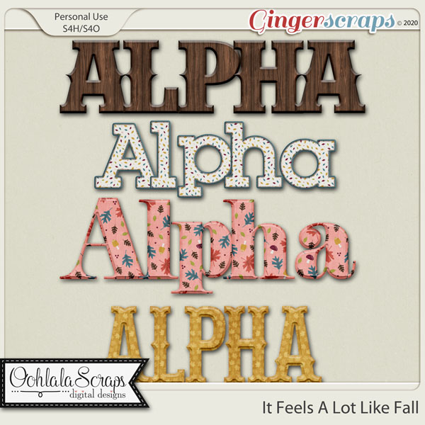 It Looks A Lot Like Fall Alphabets