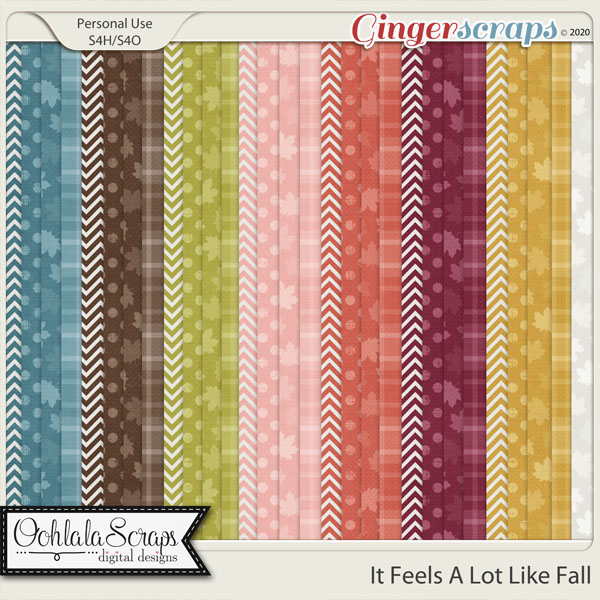 It Looks A Lot Like Fall Pattern Papers