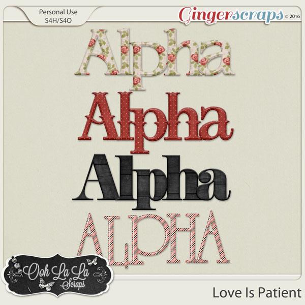 Love Is Patient Alphabets